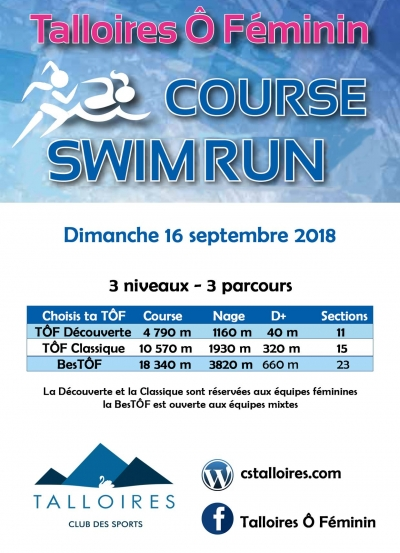 Talloires Ô Féminin, Swim and Run !